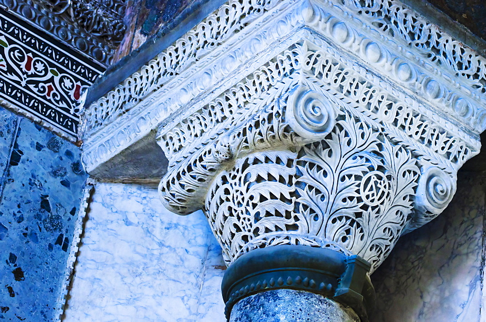 Turkey, Istanbul, Haghia Sophia Mosque column