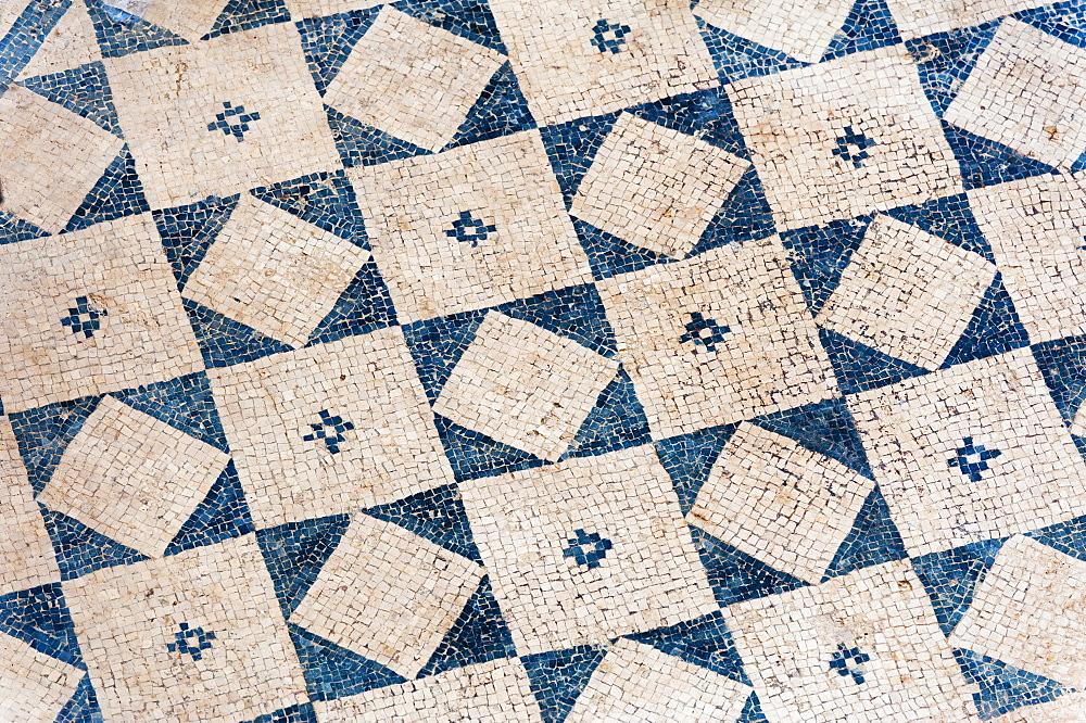 Turkey, Ephesus, Private house floor mosaic pattern