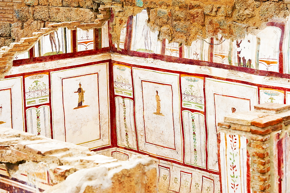 Turkey, Ephesus, Private house murals
