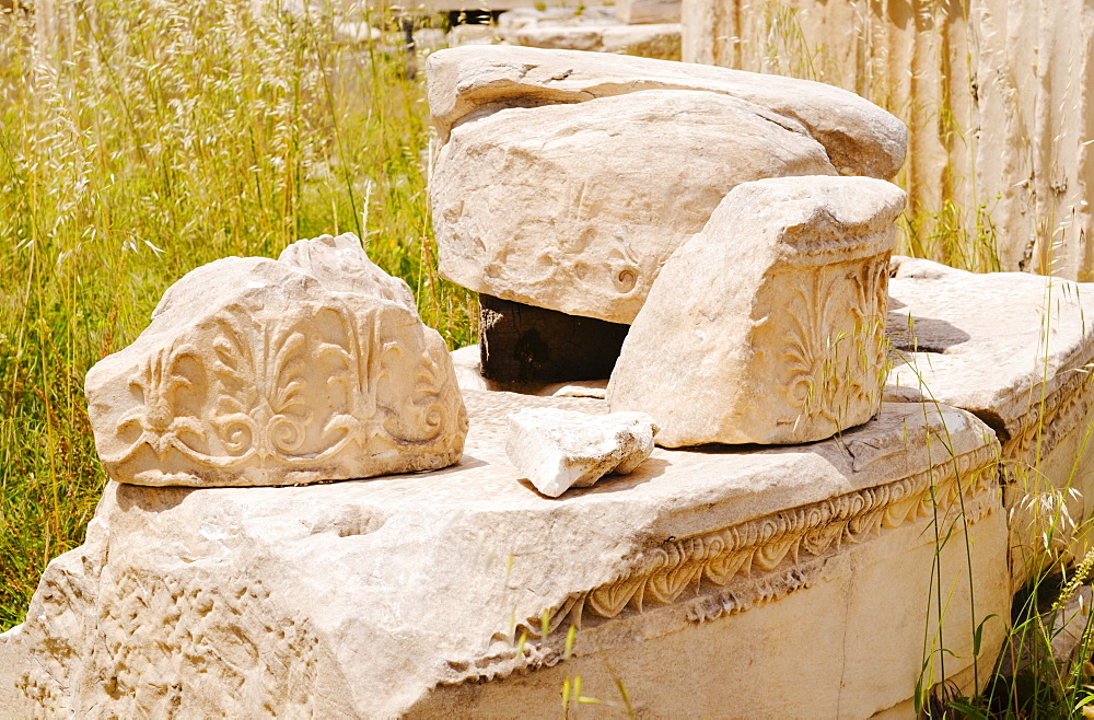 Greece, Athens, Acropolis, Old ruins