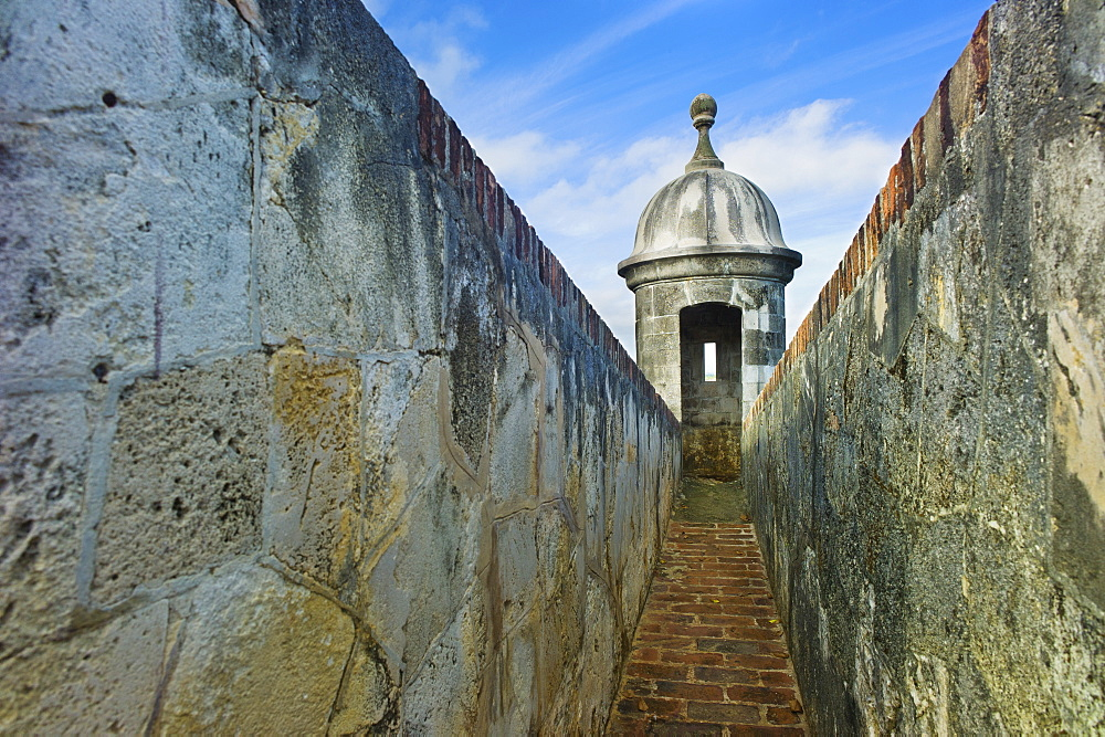 Puerto Rico, Old San Juan, El Morro Fortress, Sentry post