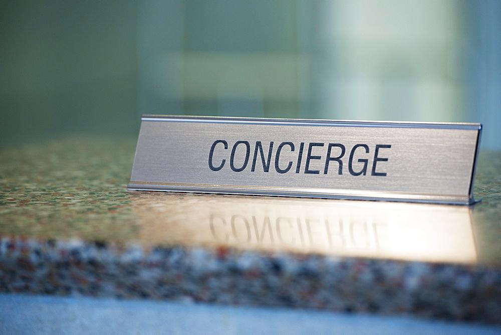 Concierge nameplate