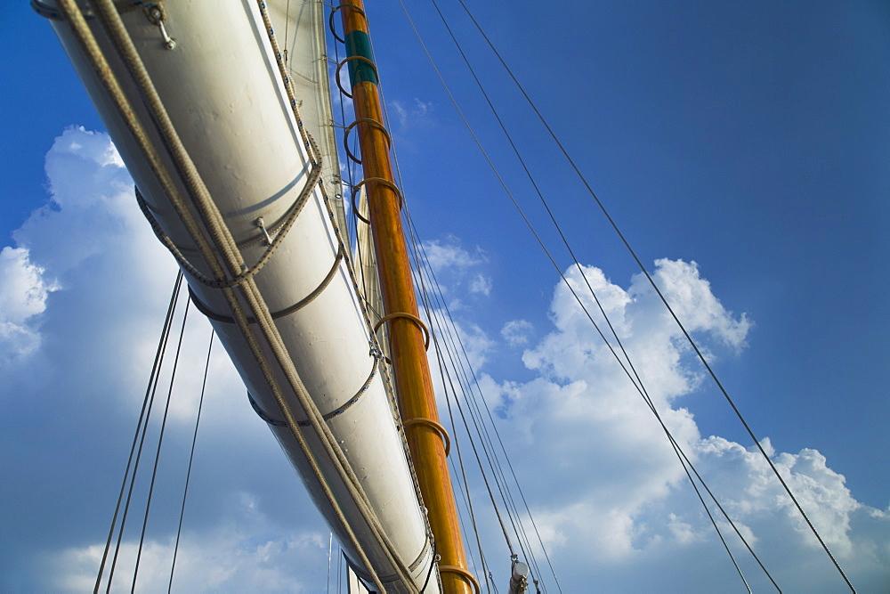 Sail on schooner