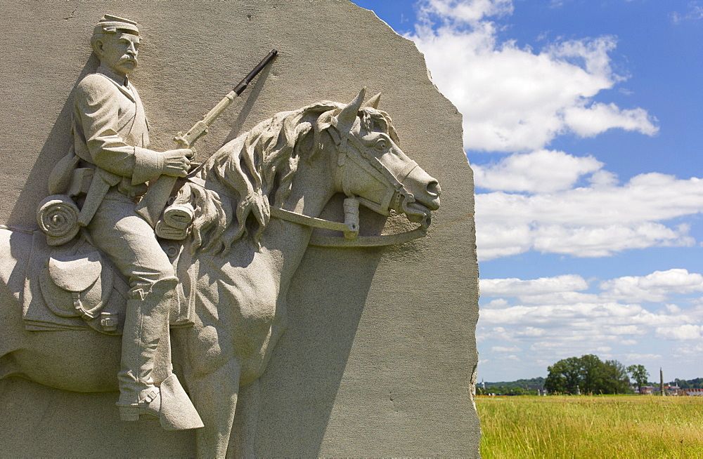 17th Pennsylvania cavalry monument