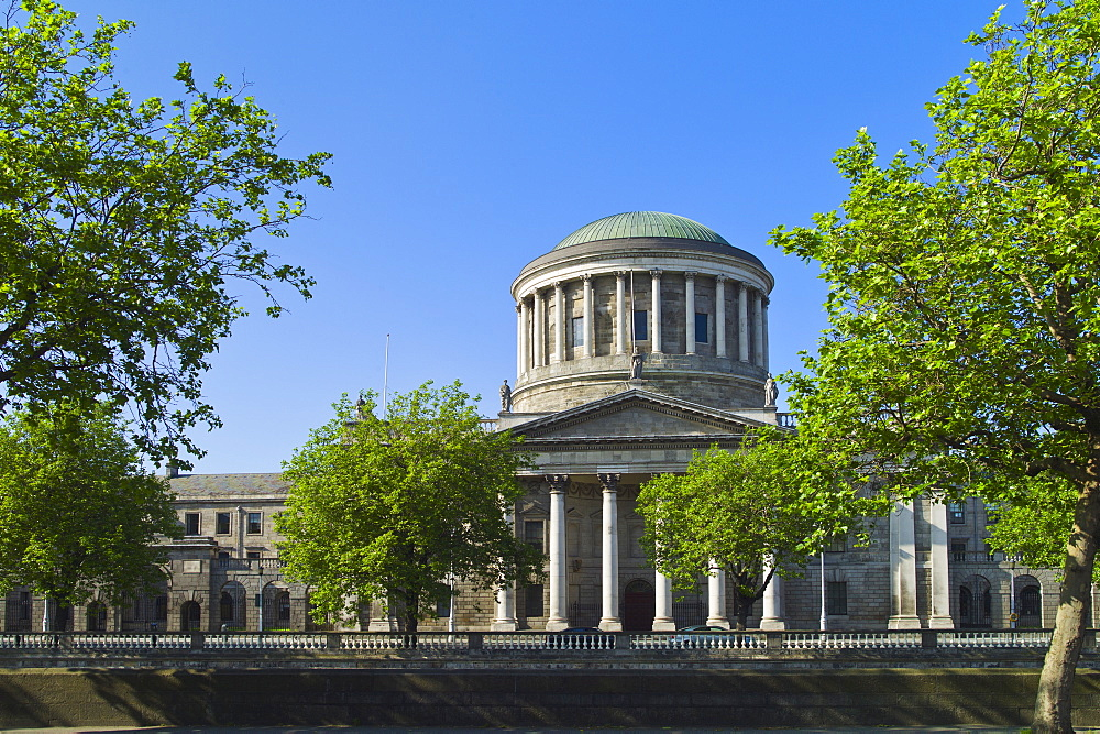 Four courts building in Dublin Ireland