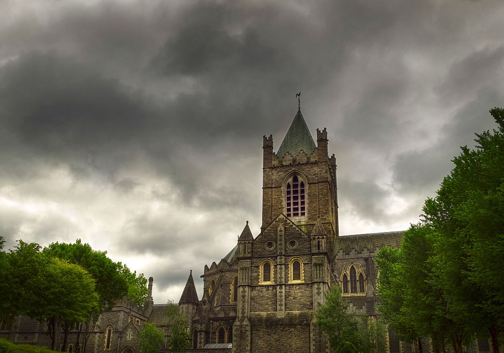 Stormy sky over Christ Church Cathedral