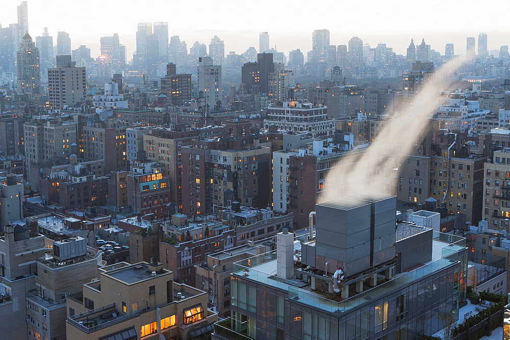 Aerial view of buildings, USA, New York State, New York City