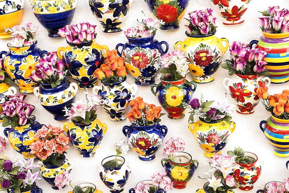 Pottery at market, Mijas, Spain