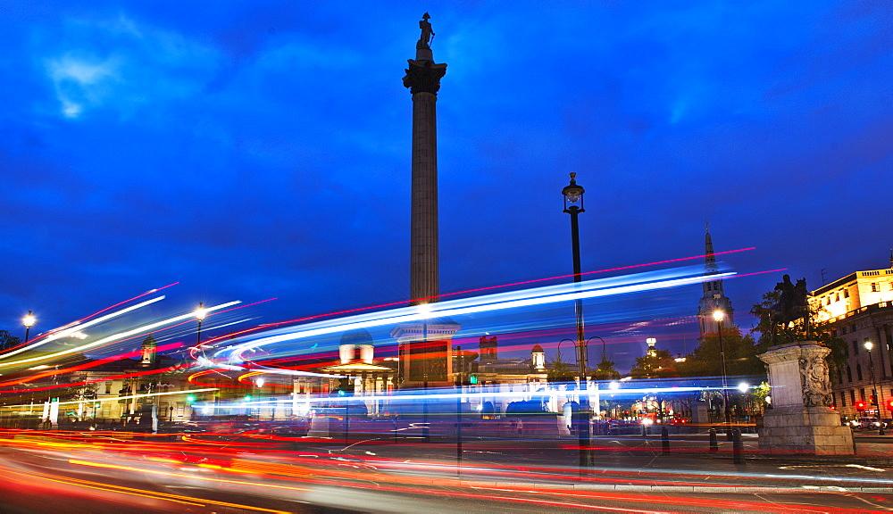UK, England, London, Traffic at Trafalgar SQ, UK, England, London