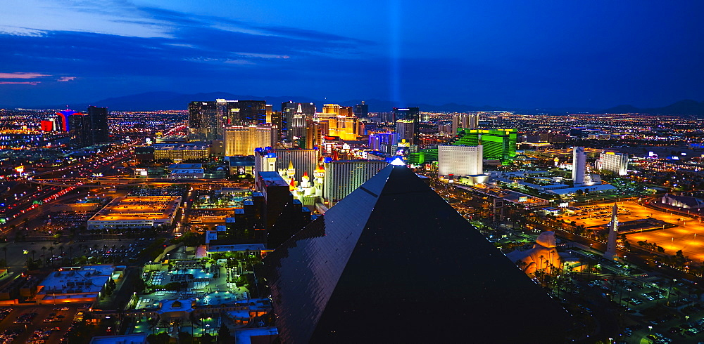 Cityscape at night, USA, Nevada, Las Vegas