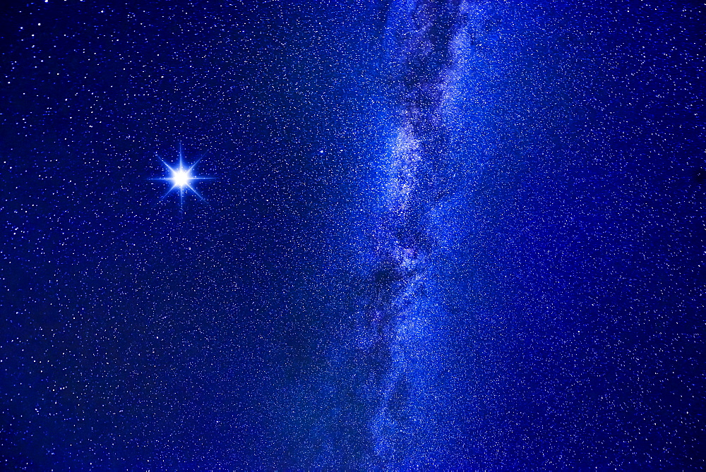 Milky Way and bright star