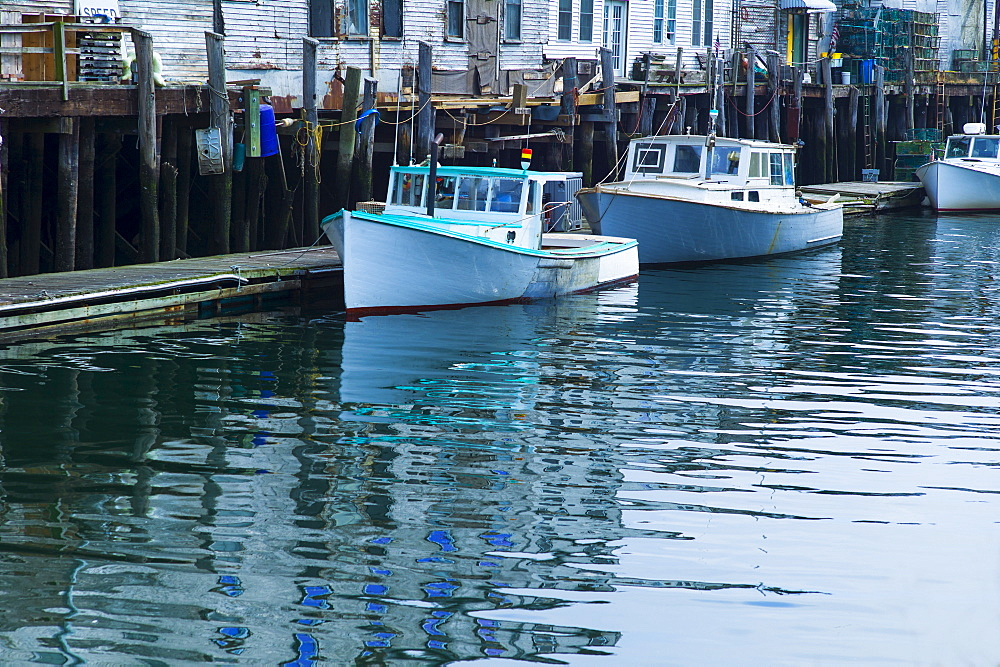Fishing boats in harbor, Portland, Maine