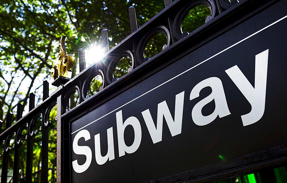 Subway sign, New York City, New York