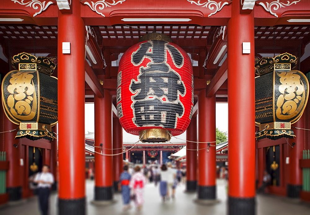 Japan, Tokyo, Asakusa, Senso-Ji Temple, focus on paper lanterns, Japan, Tokyo, Asakusa, Senso-Ji Temple