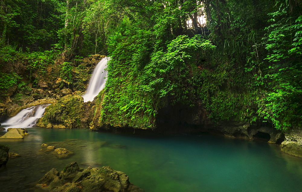 Tropical waterfall, Jamaica