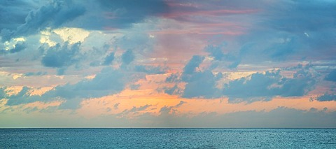 Dramatic sky over sea, Jamaica