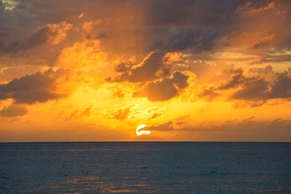 Sunset over sea, Jamaica