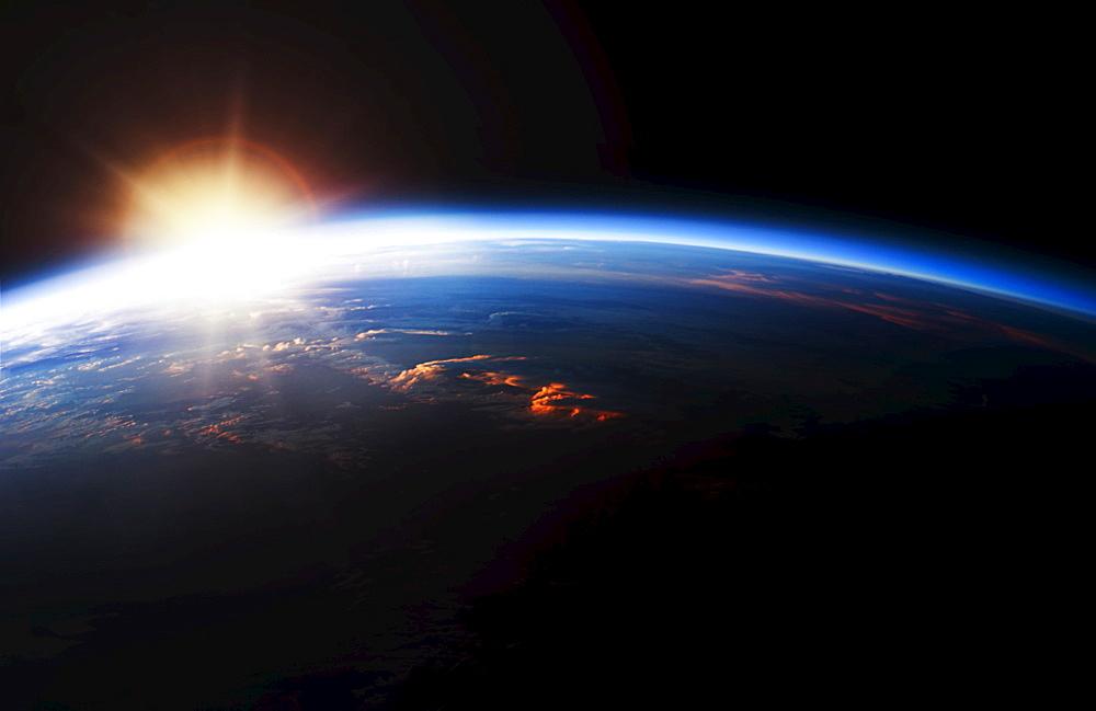 Sunrise over Planet Earth