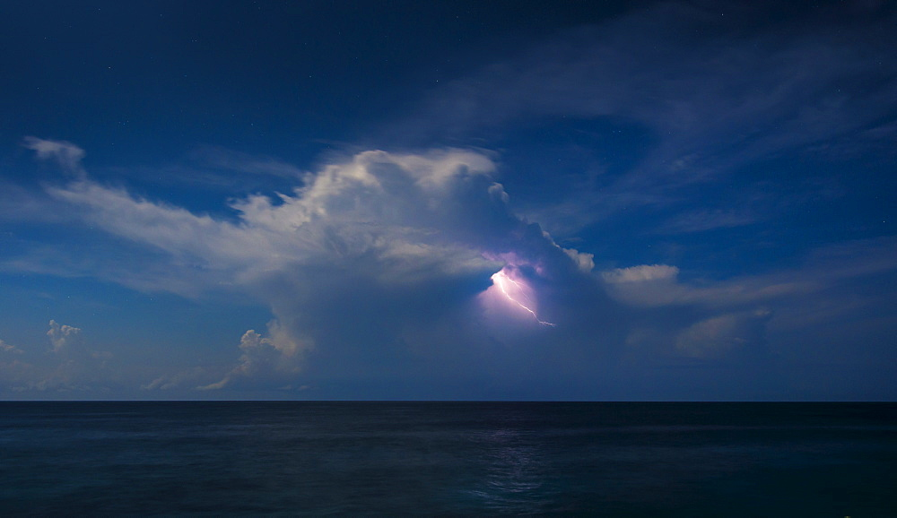 Dramatic sky with storm over sea, Jamaica