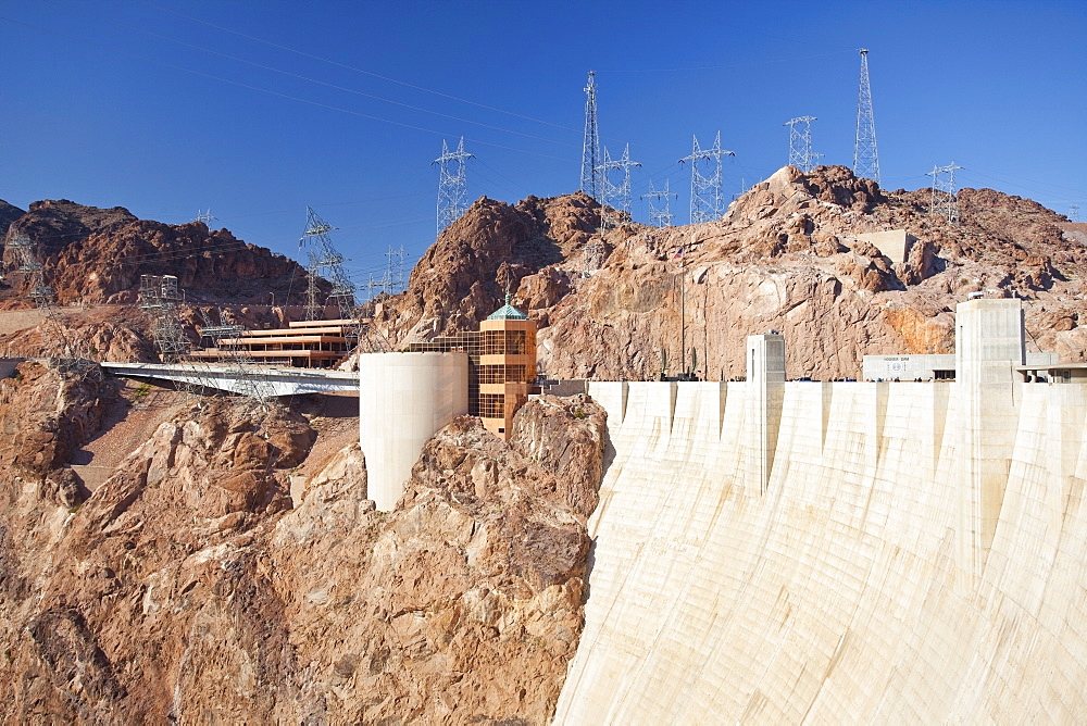 USA, Nevada, Boulder City, part of Hoover dam, USA, Nevada, Boulder City