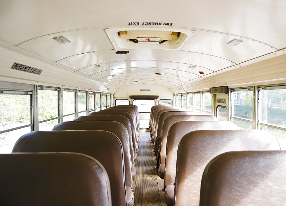 Interior of school bus