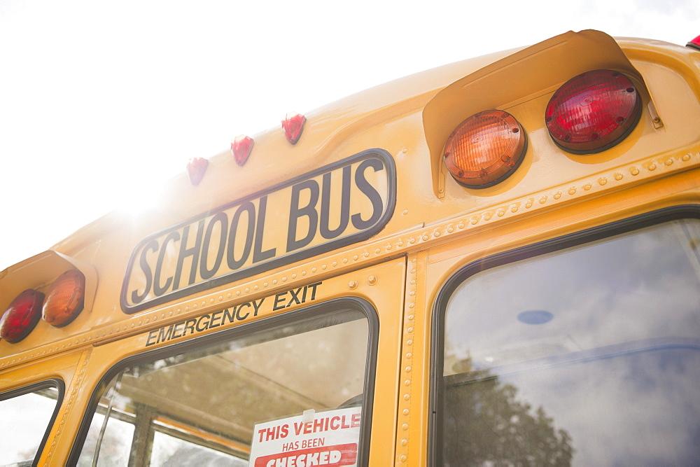 Close up of school bus