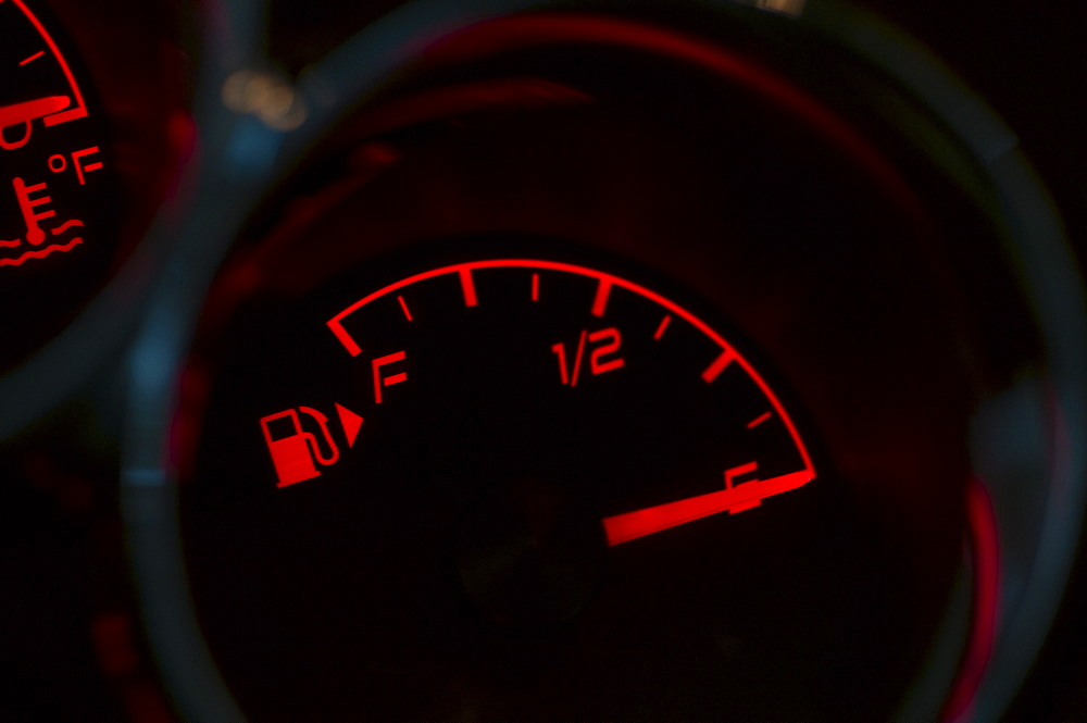 Gas gauge in a car
