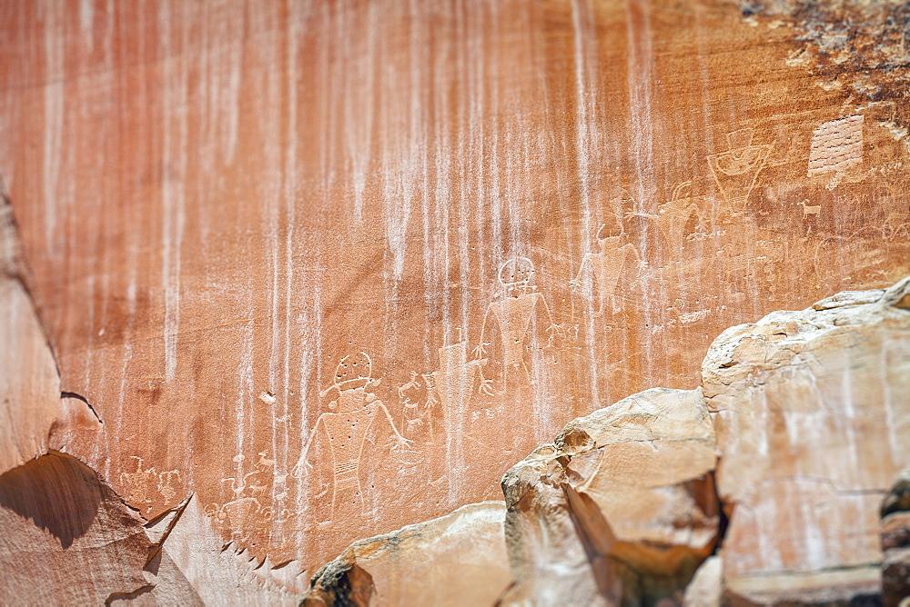 Cave paintings, USA, Utah, Capitol Reef National Park