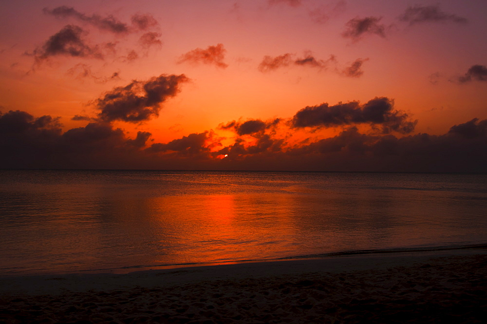 Aruba, sea at sunset