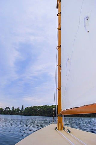 Close-up of yacht sail, USA, New Hampshire, Portsmouth