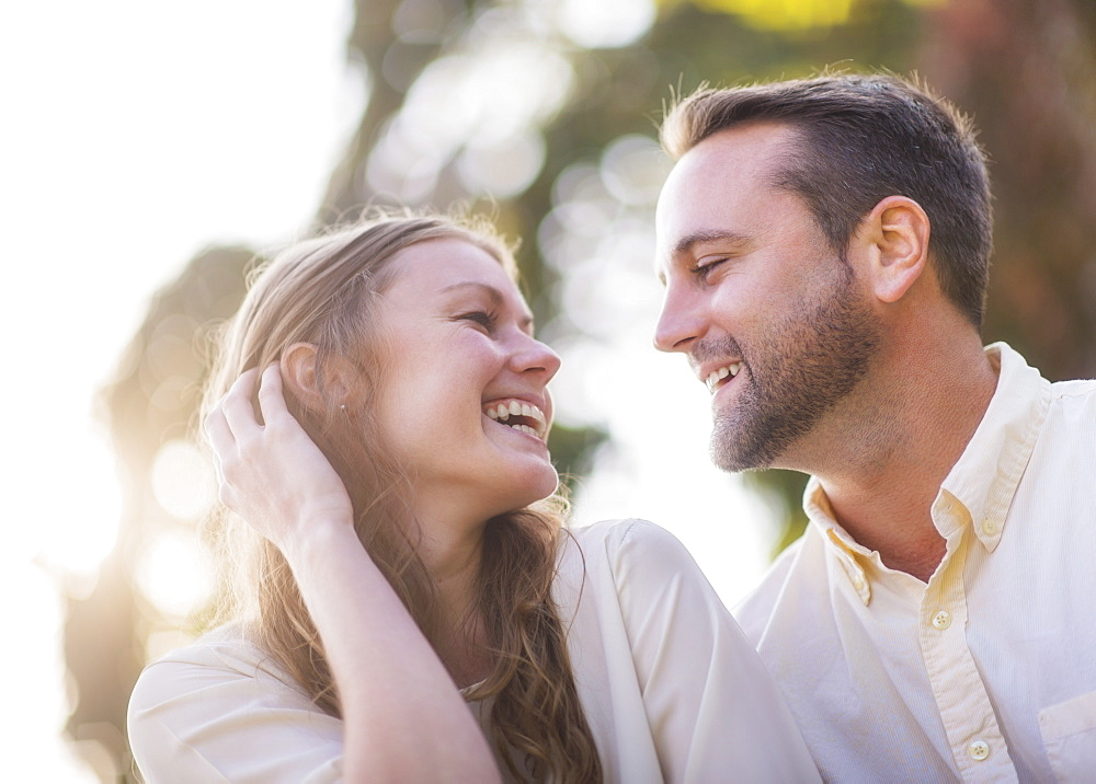 Portrait of flirting couple