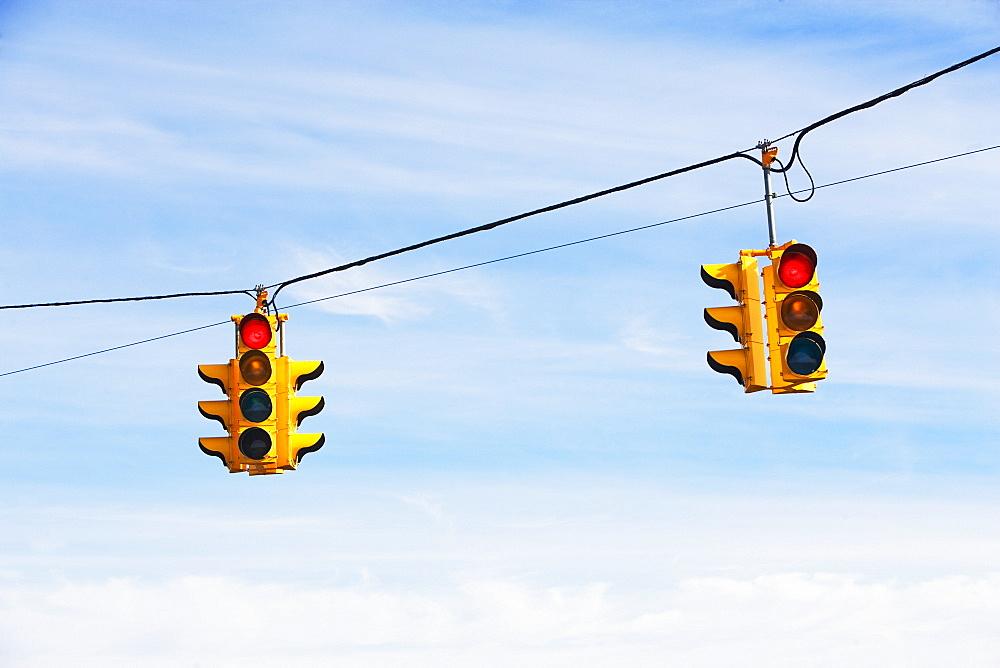 Close up of traffic lights