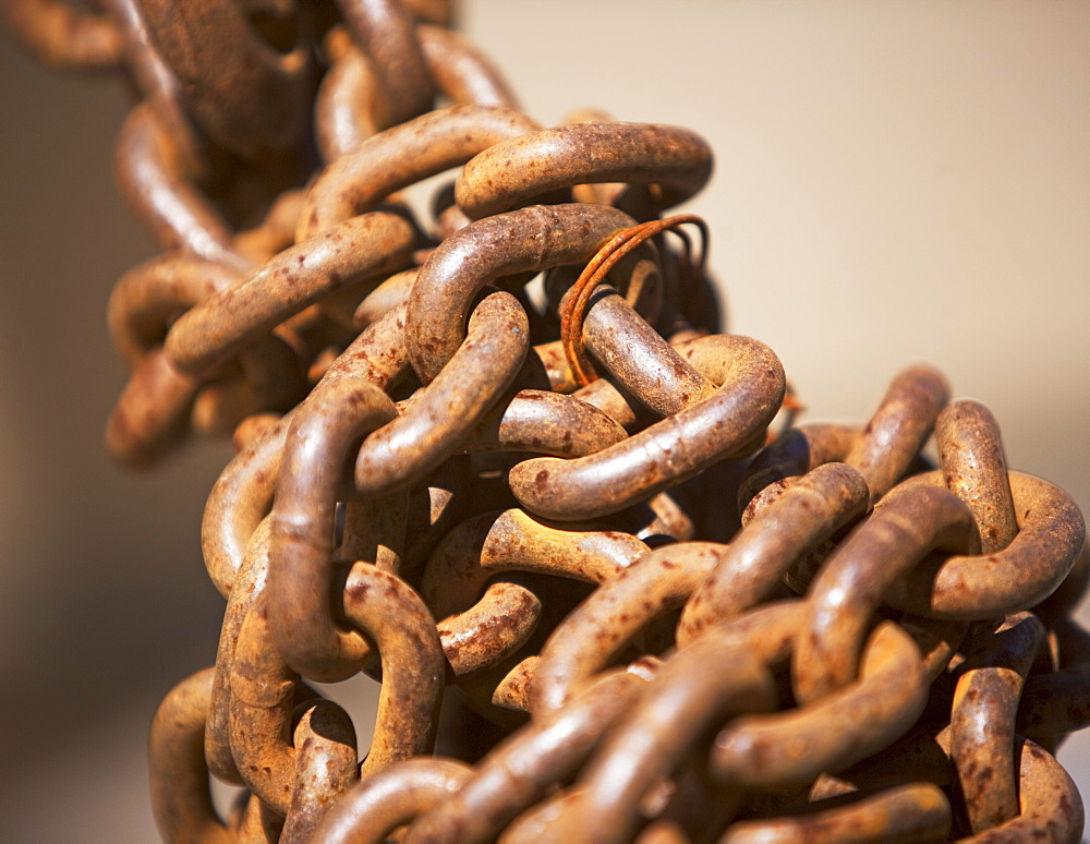 Close up of industrial chain