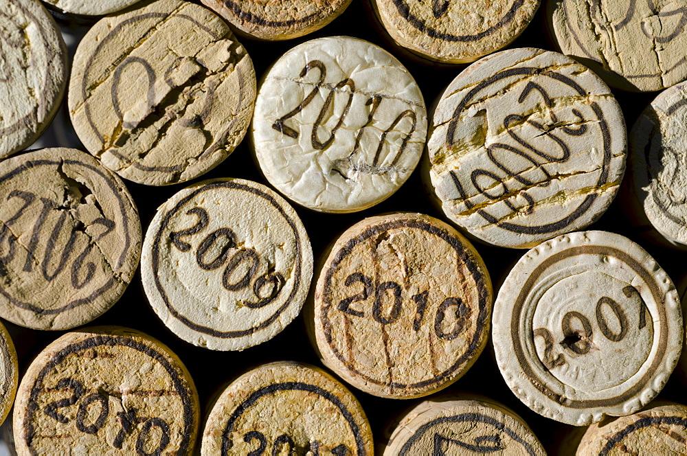Studio shot of wine corks