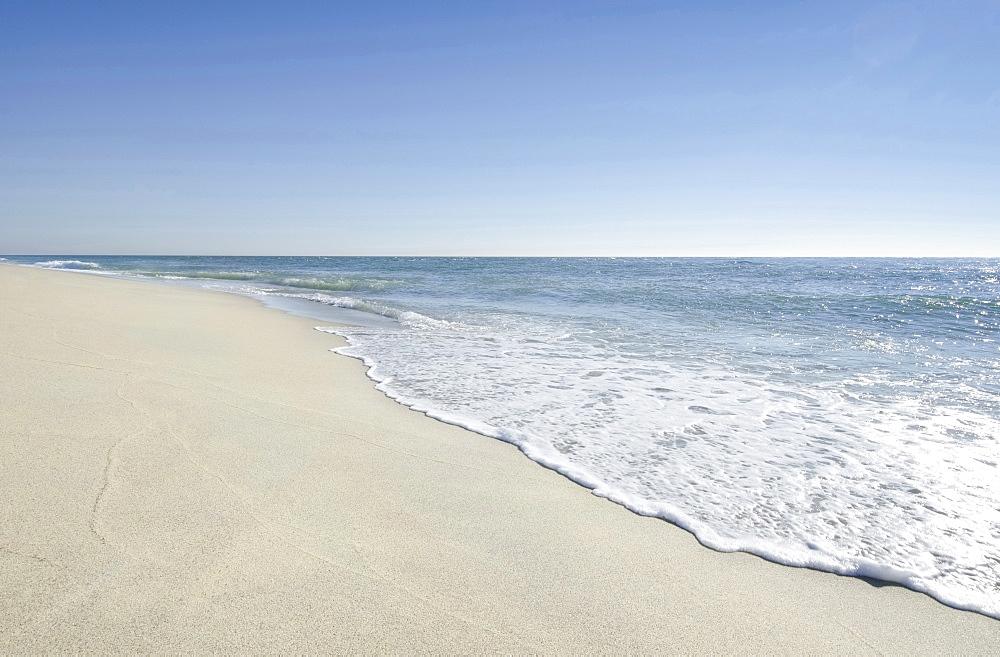 Beach with blue sky, Nantucket, Massachusetts, USA