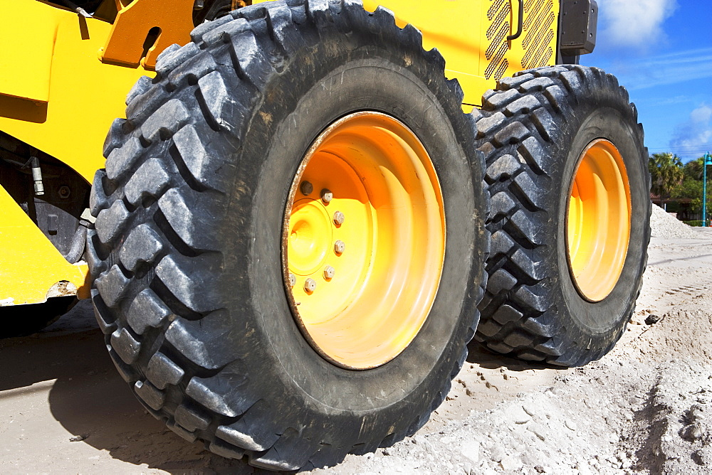 tires on heavy construction equipment