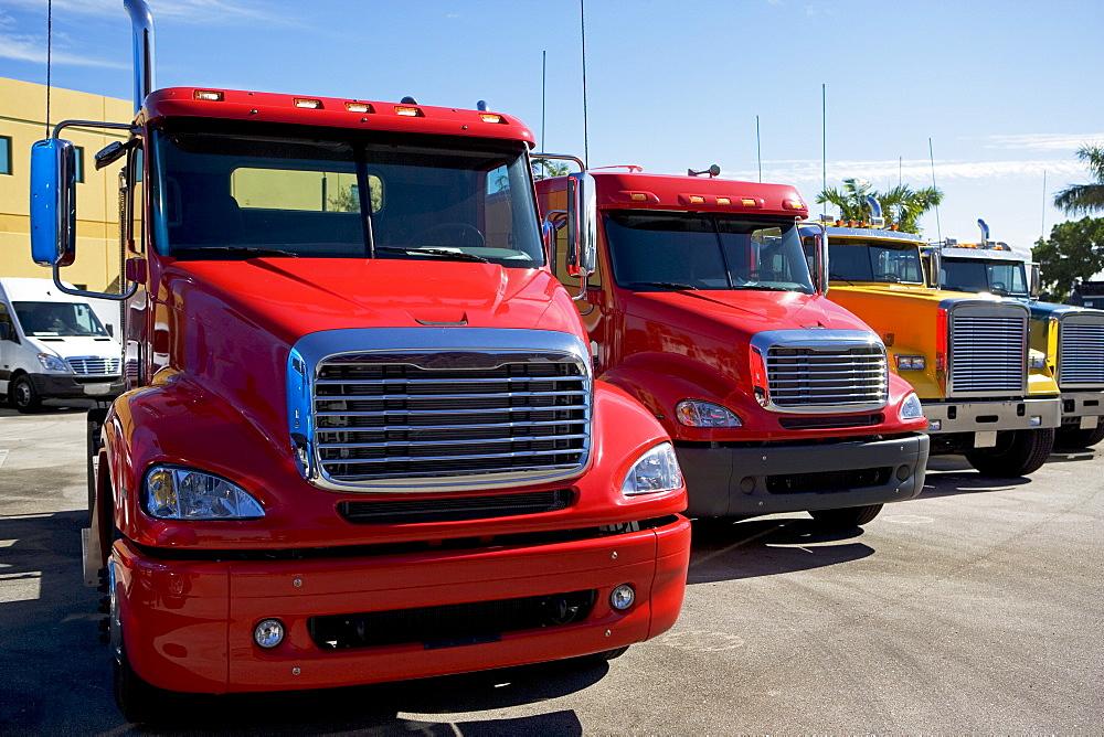 new trucks in a row