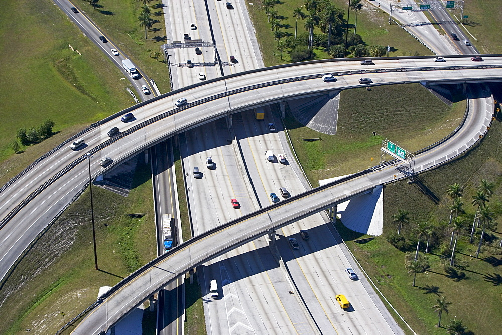 aerial view of roadway,highway
