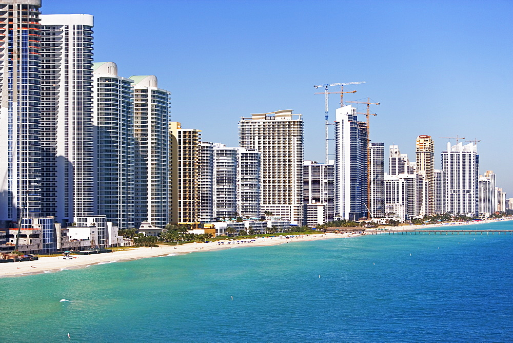 Condominiums along shore, Fort Lauderdale, Florida, United States