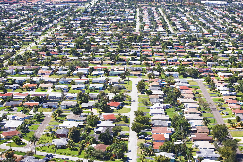 Aerial view of residential area, Florida, United States