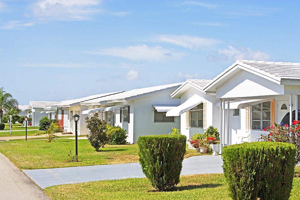 Row of houses, Boynton Beach, Florida, United States