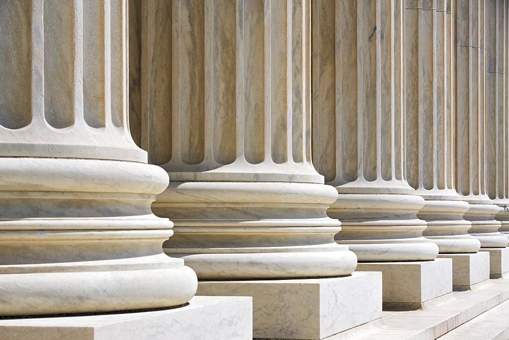 Row of stone columns