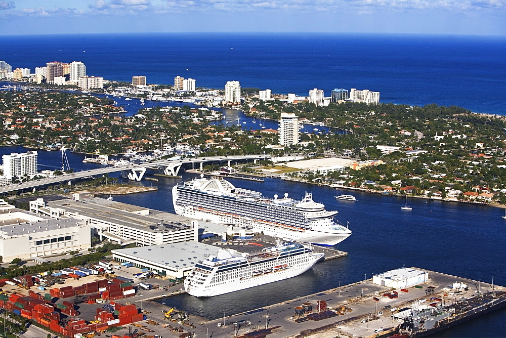 Cruise ship docked in Florida