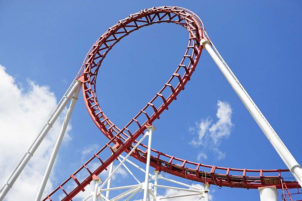 Rollercoaster against sky