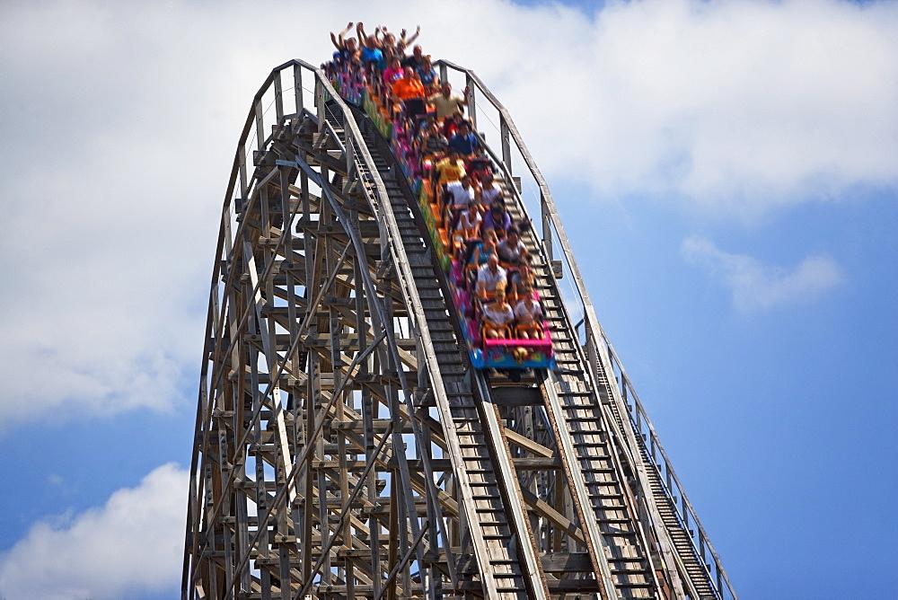 People on rollercoaster