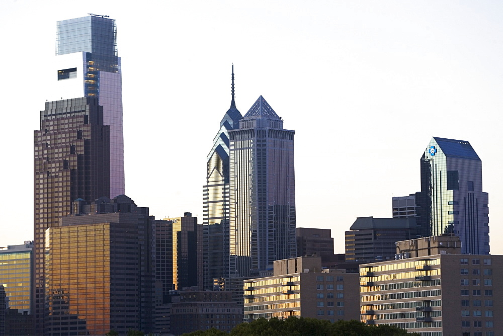 USA, Pennsylvania, Philadelphia, Comcast Center skyline