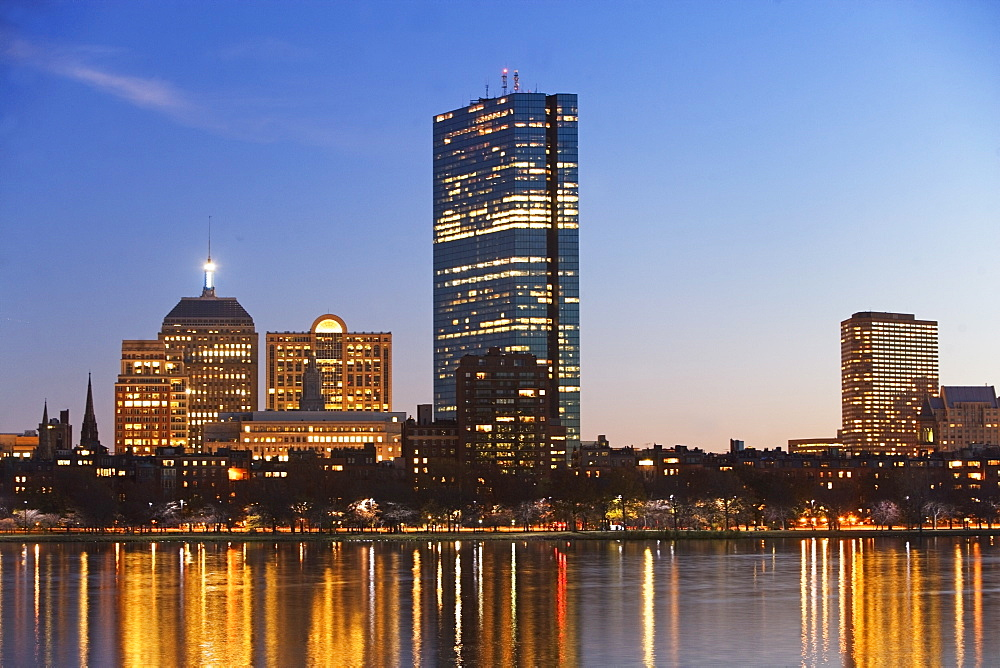 USA, Massachusetts, Boston skyline at dusk