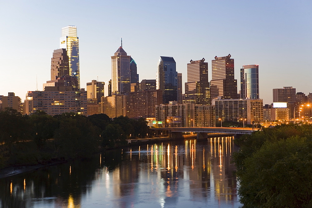 USA, Pennsylvania, Philadelphia, Skyline