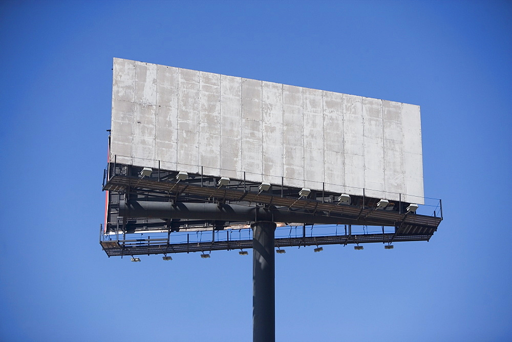 Empty billboard against clear sky