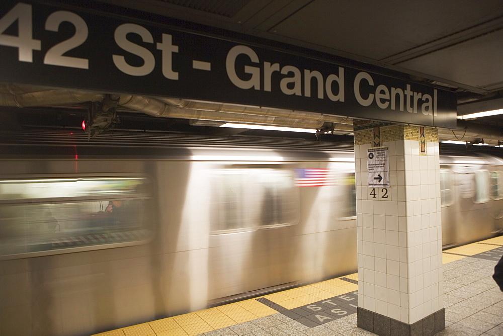 USA, New York City, Manhattan, 42 Street-Grand Central underground station